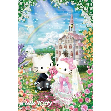 Hello Kitty | Puzzle | 108 Pcs Sweet Wedding M108-101 ( Japanese Import ) by beverly
