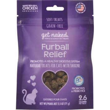 Get Naked Furball Relief Soft Treats w/ Trays for Cats 2.5oz
