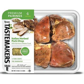 Tyson Tastemakers Premium Pairings Italian Herbed Pork Chops with Romano Cheese Crust, Serves 4