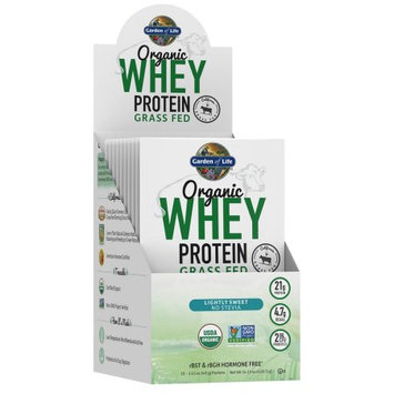 Garden of Life Organic Whey Protein Grass Fed Lightly Sweet Packets, 10 Ct