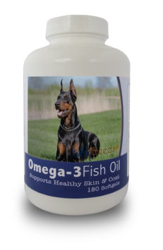 Healthy Breeds 840235141358 Doberman Pinscher Omega-3 Fish Oil Softgels 180 Count