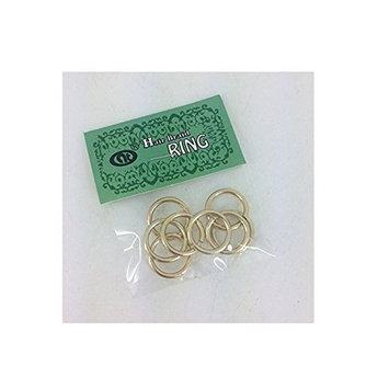 (PACK OF 4) HAIR RING COLLECTION - BASIC HOOPS 8PCS (GOLD) : Beauty
