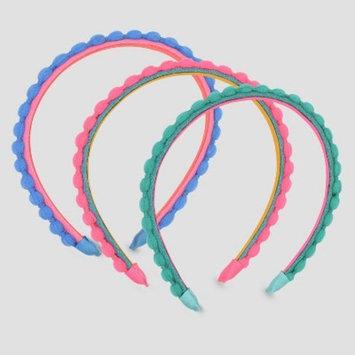 Girls' 3pk Flocked Pom Headband - Cat & Jack™
