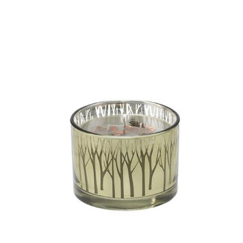 Deco Breeze CDL6417 16 oz Gilded Glass Crisp Candle - Night Air