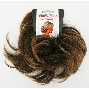 Mia Fluffy Hair Ponywrap-Ponytailer Made Of Synthetic/Faux Wig Hair On A Rubberband-Instant Hair/Instant Volume! Medium Brown Color-One Size Fits All! (1 per piece per package)