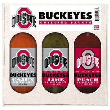 8 Pack OHIO STATE Buckeyes Grilling Gift Set 3-12 oz