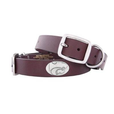 Zeppelin Products, Inc. - Pets Zep-Pro Brown Leather Concho Pet Collar, Kansas State Wildcats