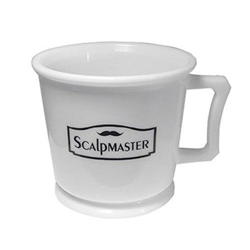Scalpmaster Professional Shaving Mug white