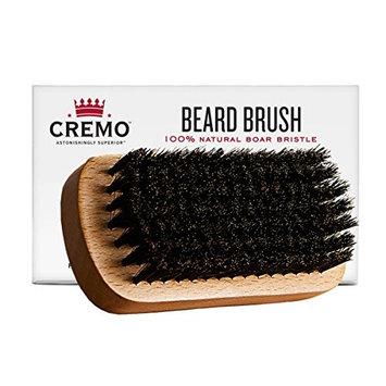 Cremo 100% Boar Bristle Beard Brush With Wood Handle To Shape, Style And Groom Any Length Facial Hair [Beard Brush]