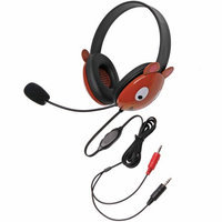 Califone International Califone Stereo Headphone Bear W/ Mic Dual 3.5mm Plug