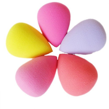Evalley Pro Beauty Makeup Sponge Blender Flawless Smooth Shaped Water Droplets Puff (Random Color)