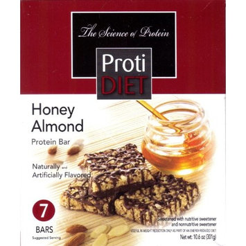 ProtiDiet High Protein Squares - Honey Almond (7 Servings/Box)