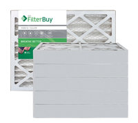 AFB Silver MERV 8 16x24x4 Pleated AC Furnace Air Filter. Filters. 100% produced in the USA. (Pack of 6)