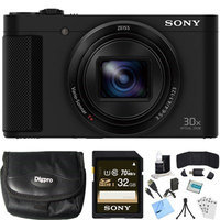 Sony Cyber-shot HX80 Compact Digital Camera (Black) 32GB Memory Card Bundle