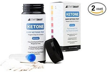 Start Smart Ketone Test Strips for Ketosis PLUS Storage Vial, 200 ct (Pack of 2)