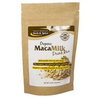 North American Herb & Spice Organic MacaMilk Drink Mix By North American Herb and Spice - 3.5 Ounces