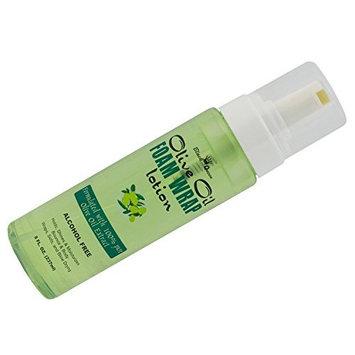(PACK OF 3) Black Queen Olive Oil Foam Wrap Lotion 8OZ : Beauty