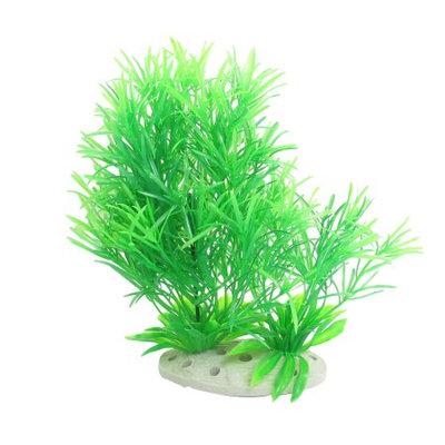Ceramic Base Manmade Plastic 19.5cm Height Grass Green for Fish Tank Aquarium