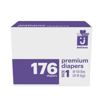 First Quality Consumer Products Jetcares Diapers, Size 1, 176ct