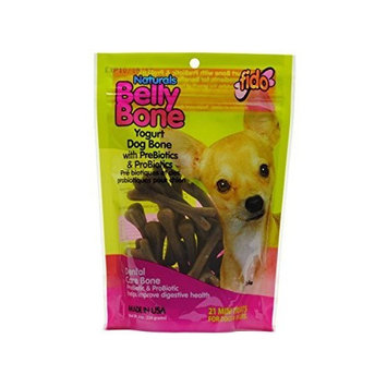 Fido Belly Dog Bone, Digestion Aid w/ Prebiotic & Probiotic Enzymes for Dogs, Mini 21 Pack by Fido
