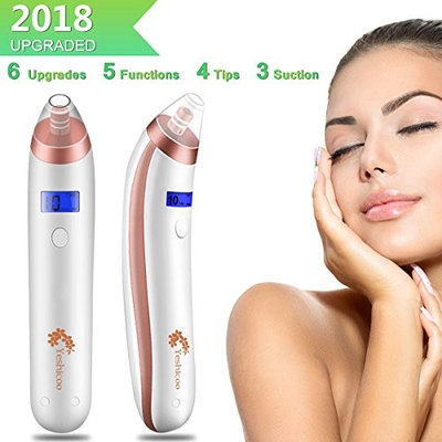 Vacuum Blackhead Remover Tool Kit Electric Blackhead Suction Tool Pore Acne Comedone Extractor Facial Pore Cleaner Suction Microdermabrasion Exfoliating Machine for Face Men Women Girl Boy Gift