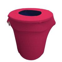 LA Linen SpandexCover32G-FuchsiaX49 Stretch Spandex Trash Can Cover 32 gal Round Fuchsia