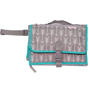 Danha Waterproof Changing Station Portable Baby Diaper Change (Grey with White Arrow)