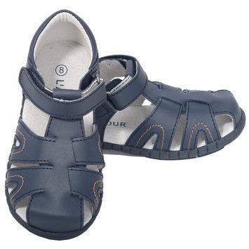 L'Amour Navy Fisherman Closed Heel Sandals Baby Boy 4-Toddler Boy 10