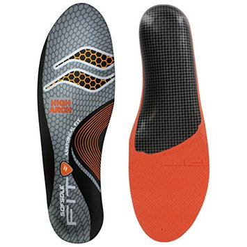 Sof Sole Insoles Unisex FIT Support Full-Length Foam Shoe Insert, Men's 11-12, Low Arch [Low Arch]