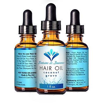 Oil for Hair, Beard, Skin, 9 Cold Pressed Natural Oils Argan,Grapeseed, Vit E, Apricot Kernal, Pumpkin Seed, Hempseed, Avocado, Sweet Almond, Jojoba For Hair Loss, Hair Repair, 11 Amazing Scents