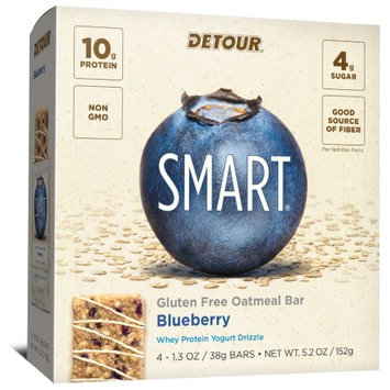Detour SMART Blueberry Whole Grain Oatmeal Protein Nutrition Snack Bar