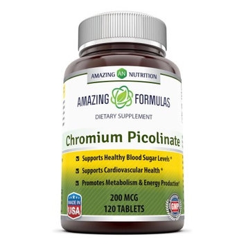 Good Brands, Llc Amazing Nutrition Chromium Picolinate - 200 mcg, 120 Tablets