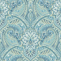 York Wallcoverings, Inc. Waverly Classics II Swept Away Removable Wallpaper, Blues
