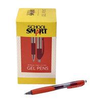 School Smart 1572370 0.7mm Pen Gel Retractable Red - Pack of 48