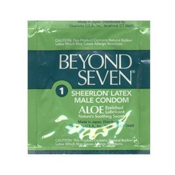 OKAMOTO BEYOND SEVEN ALOE MALE CONDOMS, 48-Count Pack