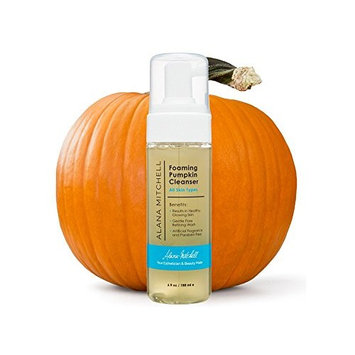 Moisturizing Foaming Pumpkin Cleanser By Alana Mitchell: Gentle Wash With Aloe Vera For All Skin Types – Healthy Skin Anti-Aging Pore Refining Face Purifier – Paraben Free, All Natural (6oz)