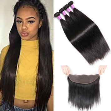 YoungFace Straight Hair Bundles with Frontal Virgin Straight Hair Brazilian Straight Hair (22 24 26+20)