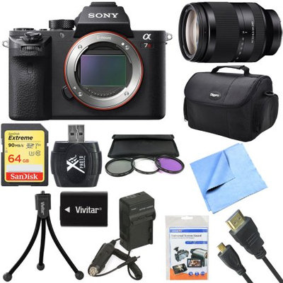 Sony a7R II Full-frame Mirrorless Interchangeable 42.4MP Camera 24-240mm Lens Bundle