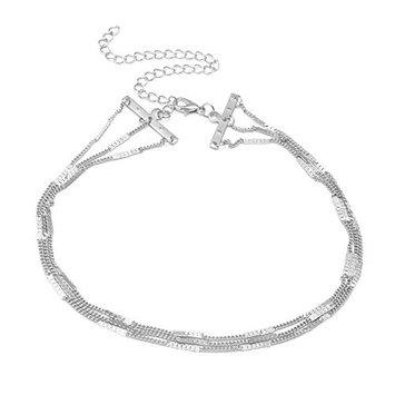 Shineweb Women Short Multi-layer Choker Necklaces Chain Collar Jewelry Gifts