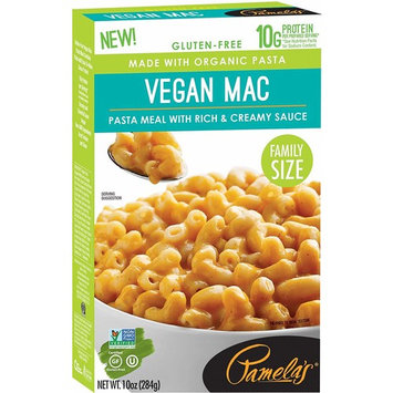 Pamela's Family Size Gluten Free Pasta Meal with Real Cheese, Vegan Mac, 10 OZ, Pack of 3