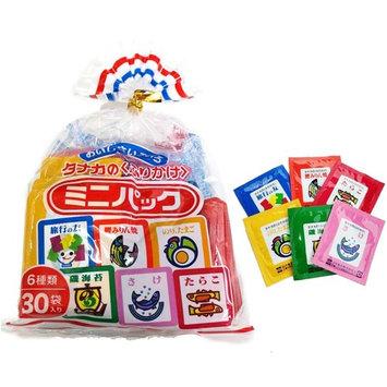 Tanaka Japanese Rice Seasonings 30 Mini Pack Assort SET 6 Flavors (About 2.6oz)