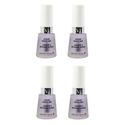 Revlon Liquid Quick Dry, 0.5 Ounce (4 Pack) + FREE Travel Toothbrush, Color May Vary