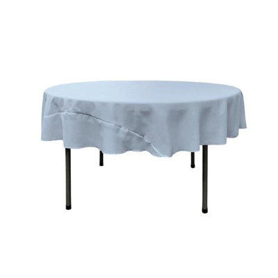 LA Linen TCpop72R-BlueLgtP18 Polyester Poplin Tablecloth Light Blue - 72 in. Round