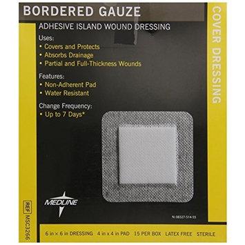 Medline MSC3266Z Sterile Bordered Gauze, 6