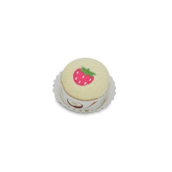 Couture Towel CT-PAFC001402 13 x 13 in. Strawberry Cupcake Towel Vanilla & Pink