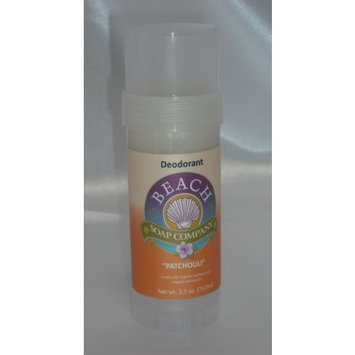 Patchouli Certified Organic Deodorant - Aluminum, Talc, and Paraben Free. Made and sold by Beach Organics. 2.5 oz.