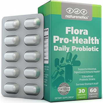 Probiotics For Women & Men On The Go – Flora Pro-Health: High Strength Probiotic Supplement – 30 Billion CFU Per Capsule – Sugar, Soy, Dairy & Gluten Free – Vegan – With Acidophilus – 60-day Supply