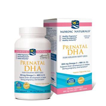 Prenatal DHA Fish Gelatin Soft Gels, 180 Softgels, Nordic Naturals