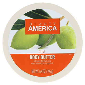 Beauty America Intense Moisturizing Body Butter With Olive Oil & Vitamin E, 6.9 Ounce [Olive]