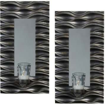 Elements 2-piece Mirror Wall Sconce Set